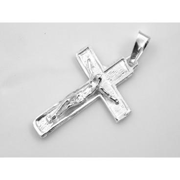 Cruz de plata con Cristo