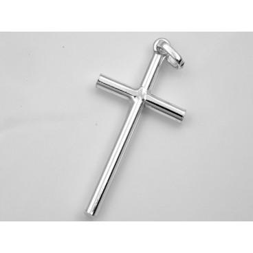 Cruz de plata redonda