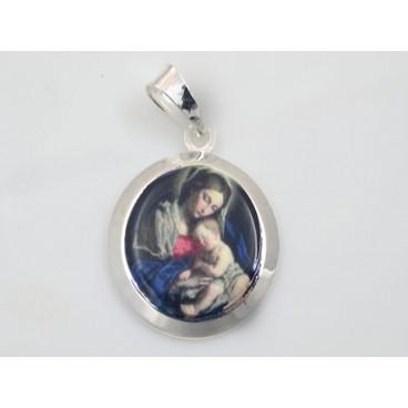 Medalla redonda de la Virgen