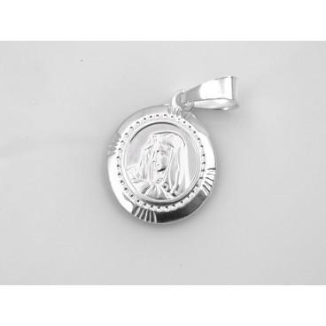 Medalla redonda con la Virgen