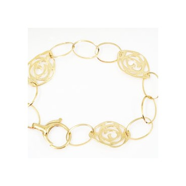 Pulsera de oro de anillas