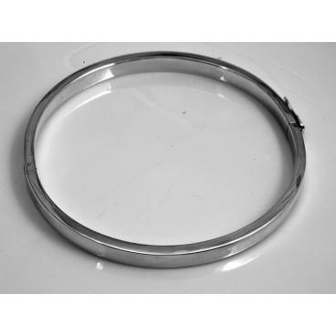 Pulsera de plata oval