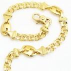Pulsera de oro con cadena húngara